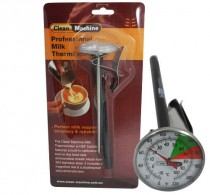 Milk Jug Thermometer, Short (140mm) with clip – Clean Machine