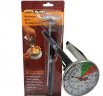 Milk Jug Thermometer, Long (210mm) with clip – Clean Machine