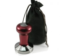 Coffee tamper 58mm stainless flat red – Protamp